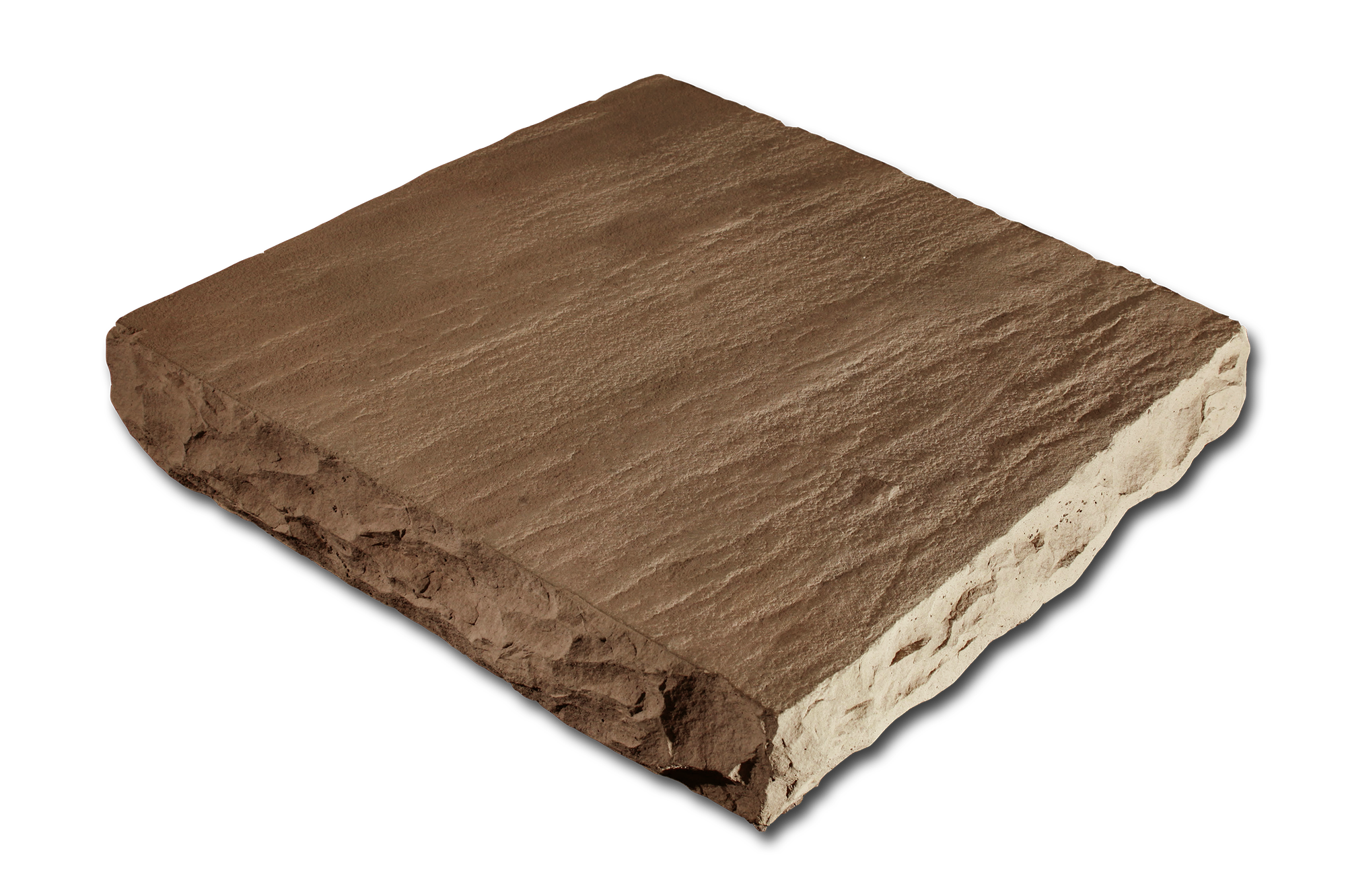 Flat Column Cap Taupe 24x24x4