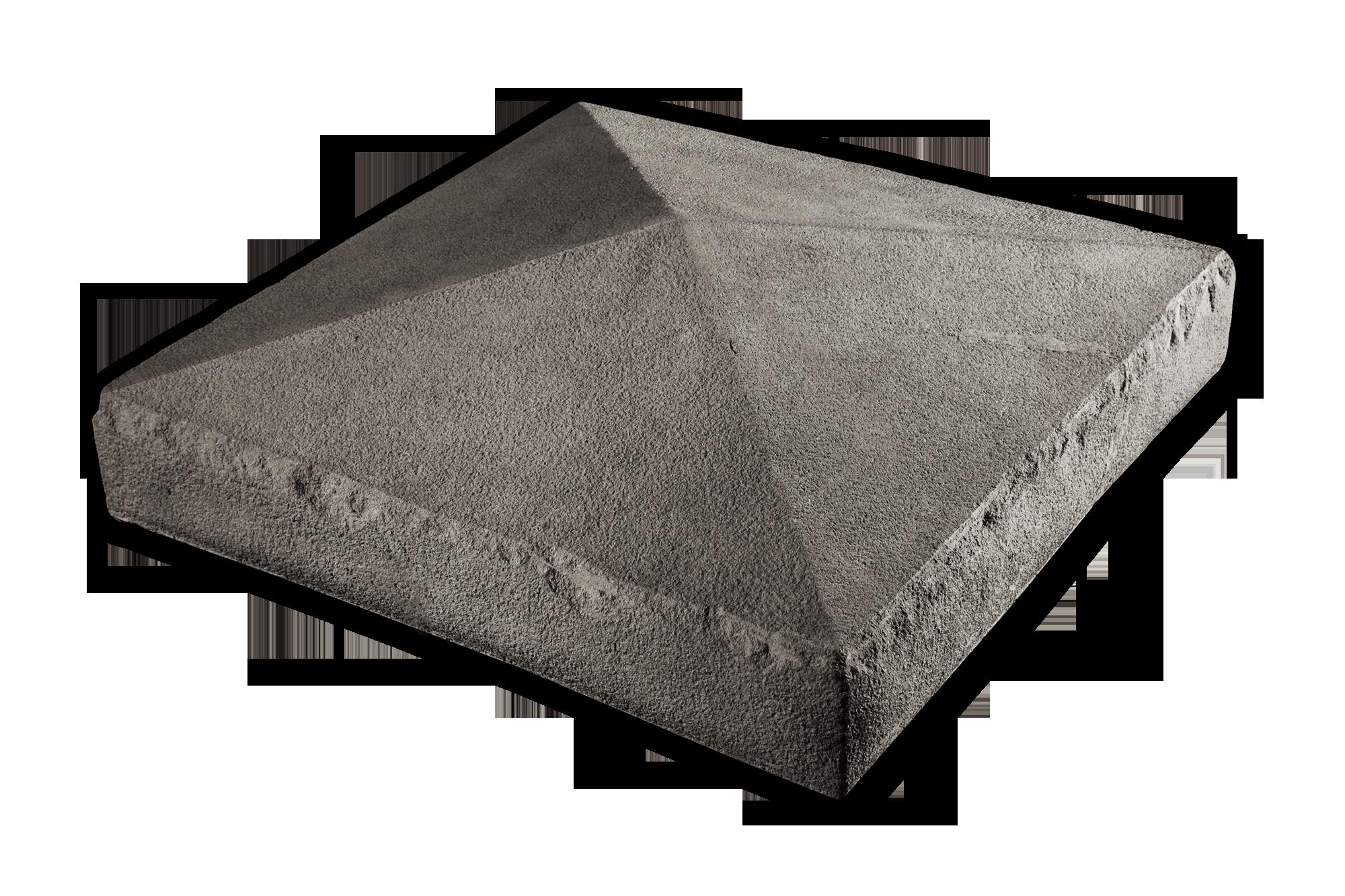 Peaked Collumn Cap Gray 20x20x2.75