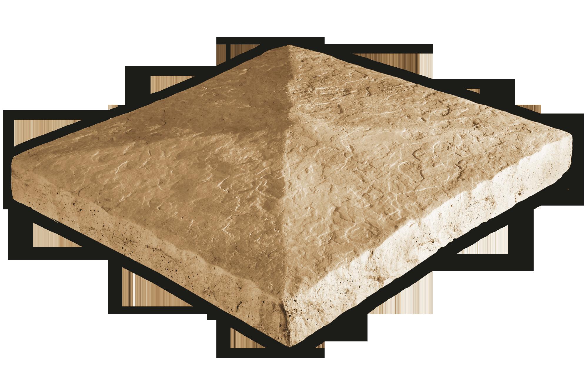 Peaked Column Cap Amber 28x28x3.5