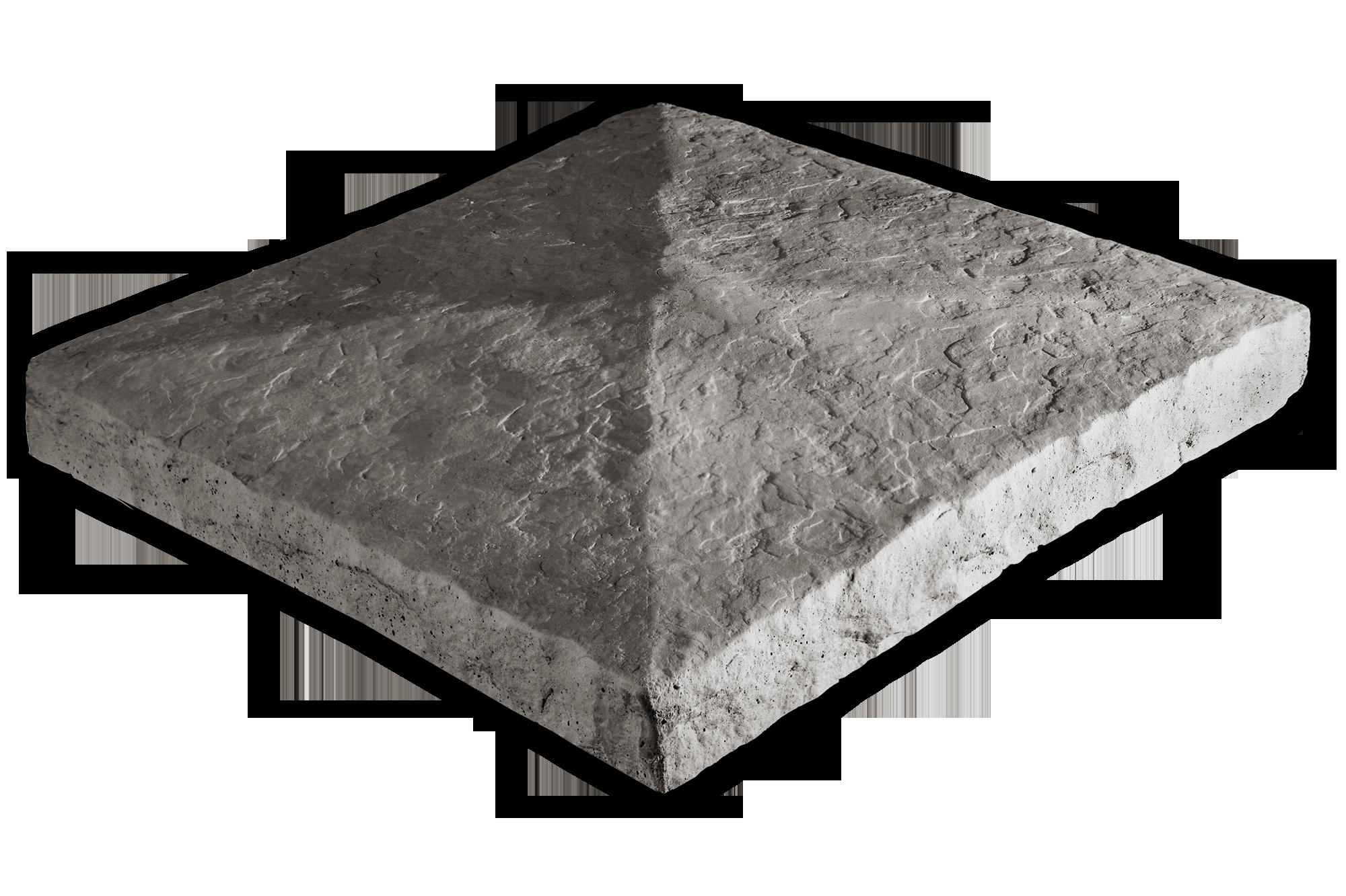 Peaked Column Cap Gray 28x28x3.5