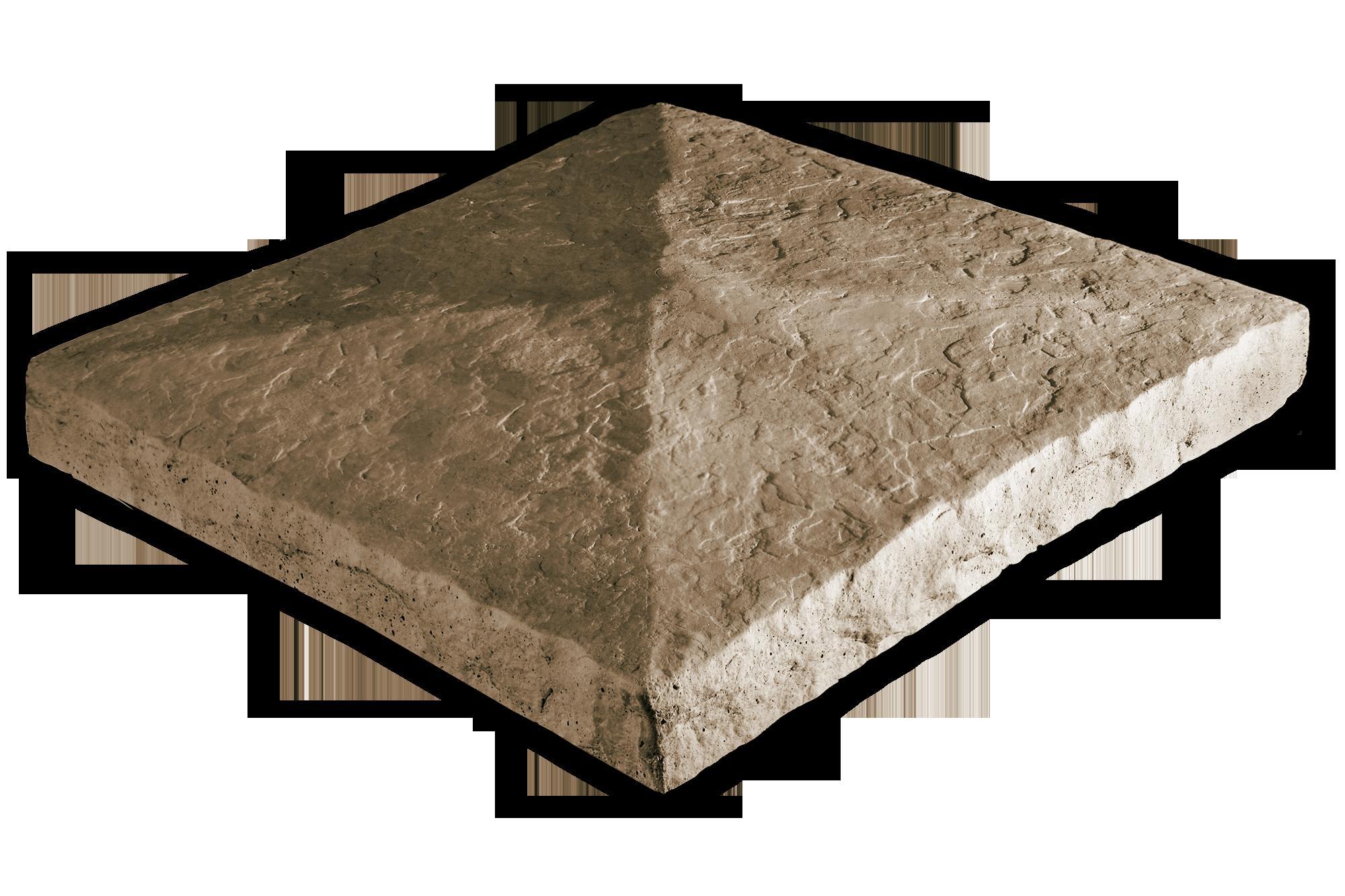 Peaked Column Cap Taupe 28x28x3.5